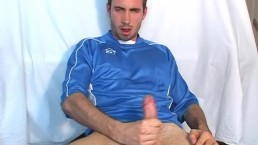 My best friend made a porn: watch his huge cock gets wanked by a guy!