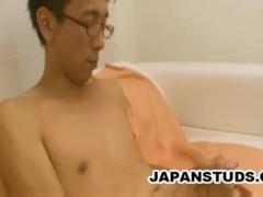 Kenichi Murata - Skinny Japanese Man Stroking His Wiener