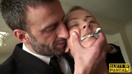 British 18yo guzzles maledoms cum on her bday