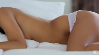 Romantic sex leaves her showered in cum