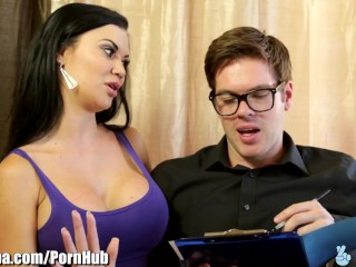 Jazzmin handjob clip, girl sucks her own tits tubes