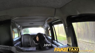 FakeTaxi lady in stockings gets creampied Butt doggy