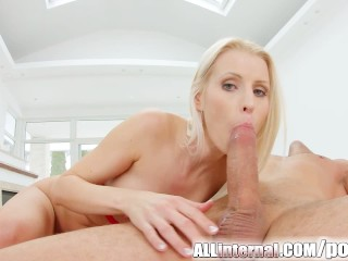 Allinternal blonde rides dick and is spunk...