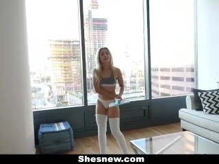 ShesNew - Sunday Quickie With My GF Goldie