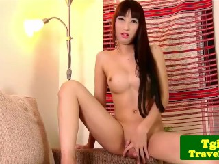Bigtitted jerking cock...