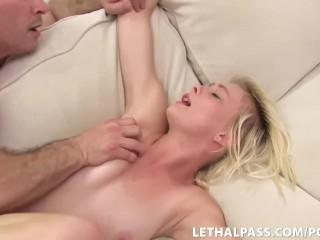 Super Cute Teen Fucked By Stepdad's Big Cock!