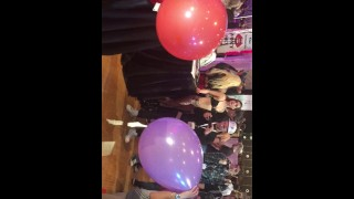 Rachel Starr & Alexis Fawx have a blowing competition at AVN Natural nudes
