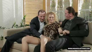 Miss angel has a hardcore casting interview nice dp penetration