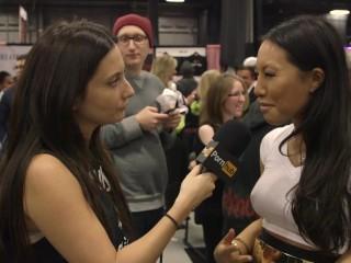 Asa Akira & Cherokee D Ass at eXXXotica 2015 with Pornhub Aria PornhubTV