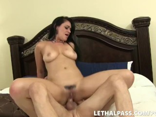 Sex With Porn Star Ends With Cum On Her Bum!