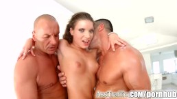 Petite Anita Bellini anal 5 guy gangbang on Ass Traffic part 2