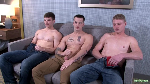 Gay anal sandwich Activeduty bareback soldier sandwich