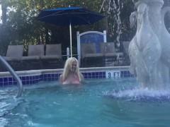 BIG TITS Kelley Cabbana Exposed at OMNI RESORT Public Hottub
