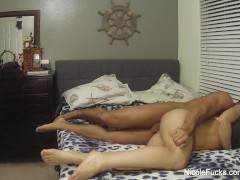 More home video action with busty blonde Nicole Aniston