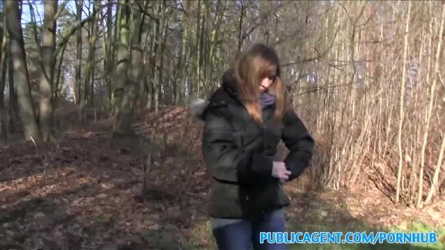Citroen vintage car sales - Publicagent sales lady has sex in a forest