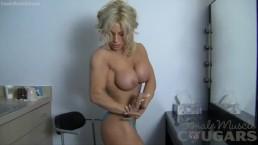 Sexy Blonde Cougar Yvonne Admires