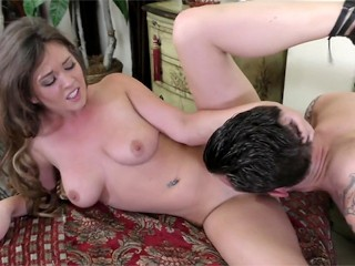 Alice Lighthouse swallows a monster cock and load