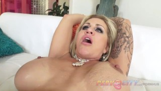 cum licked from feet