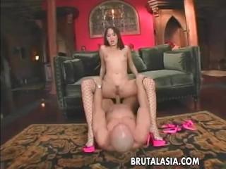 Hot Stockings Wearing Busty Ass Bitch Gets Ass Fucked