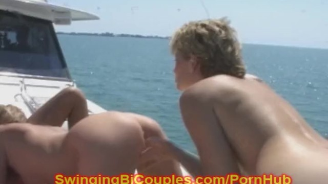 Mature bi swinger movies - 8 slutty bi wives on a swingers yacht