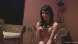 Teen beauty rubbing her tight pussy