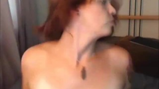 She-Male Self Blowjob & Facial Cum Load