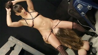 Remy's Angels - Babe Remy LaCroix dominated by Dana with a Strapon