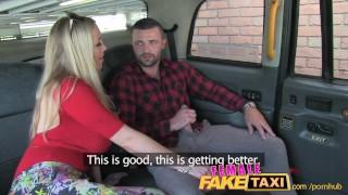 Lad sweet femalefaketaxi gets welsh surprise a blonde shaved