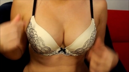 Do you love my bra as much as me- andrea sky