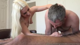 Niki Snow Makes Husband Suck Big Black Cock