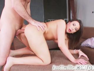 Asstraffic big butt and cumshot swallowing...