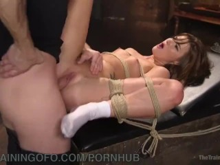 Shaved Hottie Submits To Bondage And Fucking