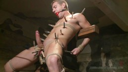 Stud With Fat Cock Gets Extreme Water Torment - Scene 1