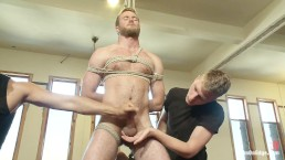 Hot Stud Drake Temple is Bound And Has His Cock Edged To The Extreme