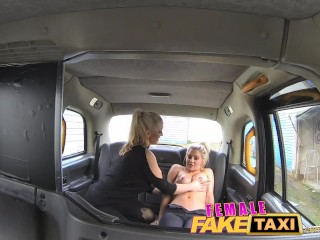 FemaleFakeTaxi Finger-fucking a fit bird
