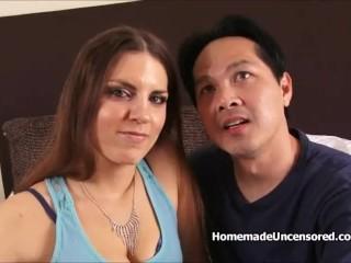 POV Fun loving couple having sex on camera