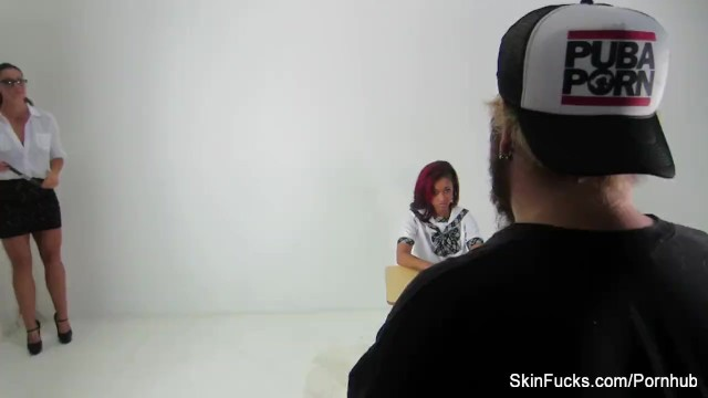 Behind the scenes with Skin Diamond and Alison Tyler 6
