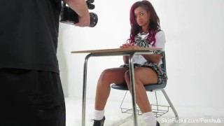 Behind the scenes with Skin Diamond and Alison Tyler Bts ebony