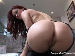 Hot MILF Dana Vespoli worships cute redhead Karlie Montana