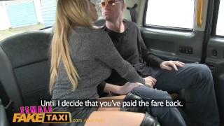 FemaleFakeTaxi Runaway passenger restrained by dominant blonde driver Olderwomanfun british