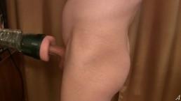 FleshLight Ass rides on my dick - Sex Machine, Homemade, solo