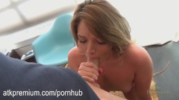 Casey Stone gives a hot wet blowjob