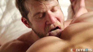 Colby Keller Fucks Carter Dane  men kissing rimjob colby keller kissing bear blowjob rimming brunette doggy ass fingering anal rim reverse cowboy carter dane cockyboys blow job men moaining kiss