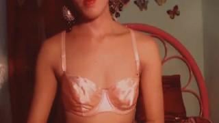 Tranny passionately explosion for seductive longing cumfull chest wanking