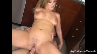 Super sexy Avy Scott gets nailed in the kitchen