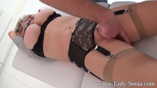 Lady Sonia the UK MILF bound to table and abused till orgasm