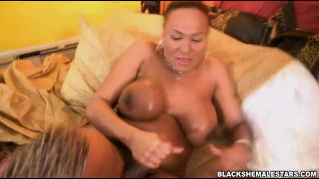 American ebony t-girl big dick takes off bra and thong cock 7