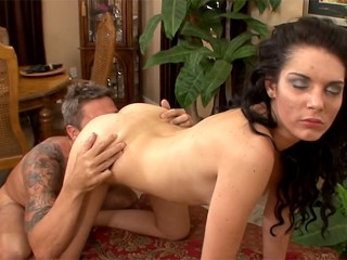 First time slut Nina Noxx Getting her pussy destroyed by Aaron Wilcox dick