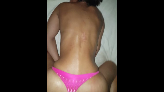 Pain right side bottom of ribcage - Fucked in the ass with my thongs slid to the side part 2