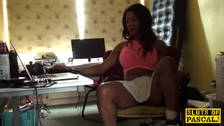 Ebony brit submissive throatfucked Dick natural